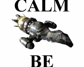 Firefly/ Serenity Stay Calm Be Shiny Tshirt Made to order