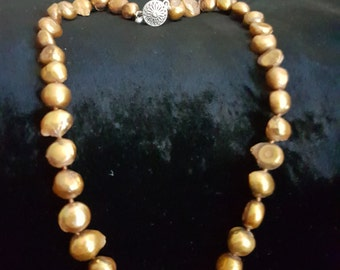 GOLD BAROQUE Fresh Water PEARLS