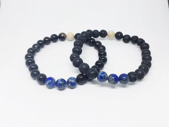 Lapis Lazuli Mala Bracelet, Gemstone Bracelet, Meditation Bracelet, Yoga Bracelet, Gift For Her, Aromatherapy Bracelet