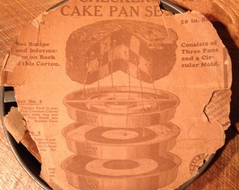 Vintage checker cake pan set.  Late 1920's- early 1930's.