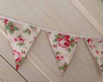 Floral  bunting hand made with Cath kidston Rosalie cotton fabric