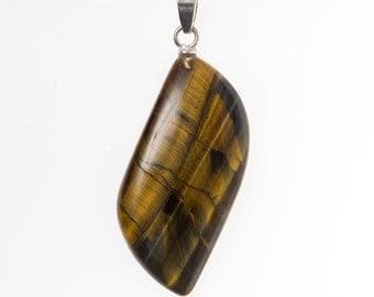 Tigers eye crystal pendant