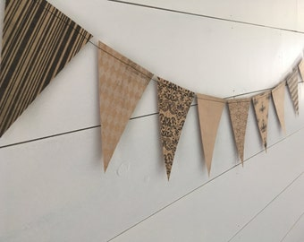 Paper Banner, Paper Bunting, Flag Banner, Flag Bunting, Photo Prop, Party Banner, Party Bunting, Photo Booth Decor, Party Decor, Paper Flags