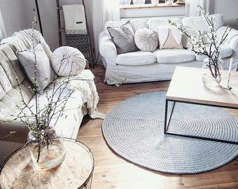 Knitted carpet, Round carpet, crochet rug, crochet round rug, knitt carpet, cotton yarn rug, babys rug, children rug, hand knitted rug
