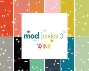 Organic Cotton Fabric Bundle- Wink Fat Quarter Bundle by Birch Fabrics-  Mod Basics 3- Organic Cotton