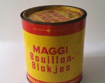 Vintage collector tin Maggi