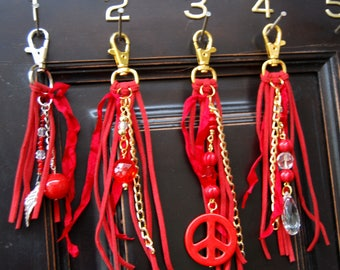 Clip on Bag charm, Key Chain, Fob, Purse Charm, Pocket Cluster Charms. Pick number over key chain
