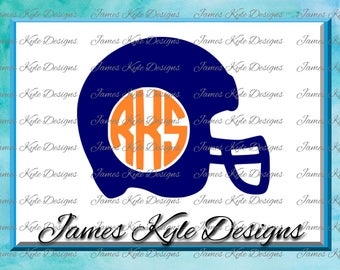 Helmet Monogram SVG, Football Helmet SVG, Football Monogram SVG, Svg Files, Football Svg, Cricut Cut Files, Silhouette Cut Files
