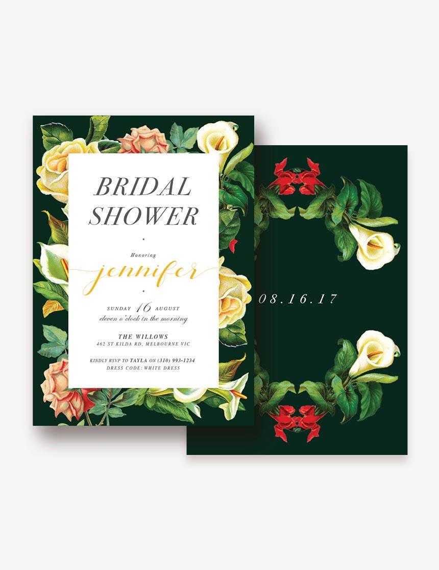 Garden Bridal Shower Invitation, Vintage Bridal Shower, Classic ...