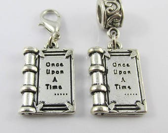 Once Upon a Time Fairy Tale Book Charm Select European Charm or Clip on Charm