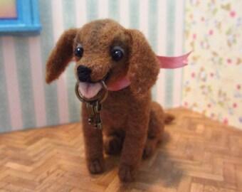 Jackie - little labrador retriever puppy - OOAK, artist puppy, miniature dog, vintage dog, dollhouse dog, tiny puppy, Blythe, art dog,