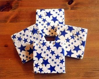 Emma Bridgewater Style Blue Starry Skies Natural Stone Coaster