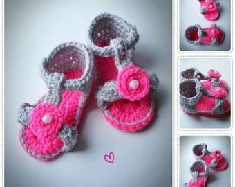 Crochet Baby Sandals, Crochet Baby Shoes, Crochet Baby Boties, Baby Sandals, Baby Shoes, Crochet Baby Girl Shoes