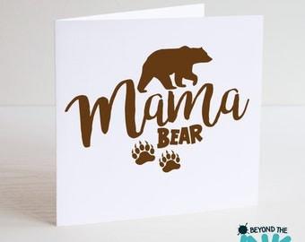 Cute Mothers Day Card - Mama Bear
