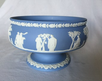 Vintage Wedgwood Jasperware Imperial Footed Pedestal Serving Bowl