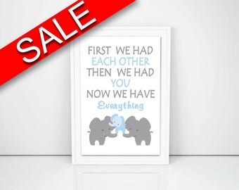 Wall Decor Elephant Printable Elephant Prints Elephant Sign Elephant Nursery Art Elephant Nursery Print Elephant Printable Art Elephant