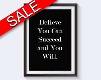 Wall Art Believe In Yourself Digital Print Believe In Yourself Poster Art Believe In Yourself Wall Art Print Believe In Yourself optimism
