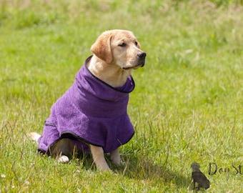 Dog Bathrobe purple - Made to Order - Doggy bathrobe