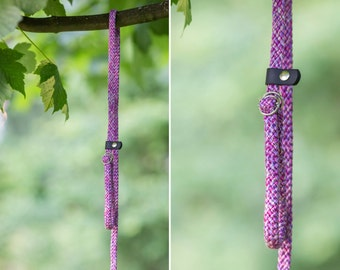 Slip Lead - Rope leash - Purple