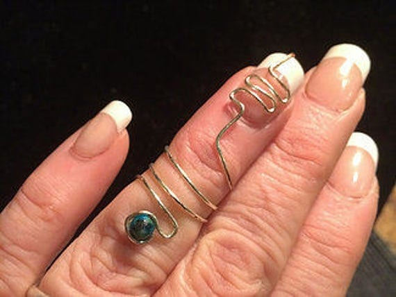 Nail Guard With Blue Stone