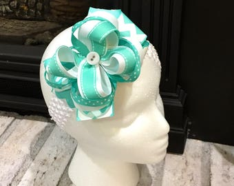 Stacked bow with headband
