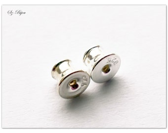 Silver plugs, sterling silver plugs, plugs for ear studs, ear studs for Rivoli