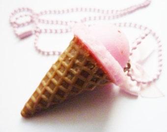 Strawberry Ice Cream Necklace Kawaii Jewelry Girls modern Lolita Accessories