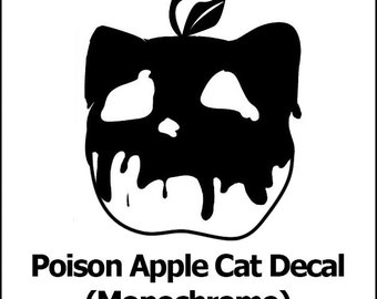 Poison Apple Cat Vinyl Decal