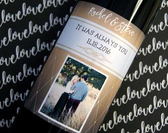 Anniversary Gift, Wine Label, Wedding Gift, Wedding Wine Label, gifts for her, Custom Wine Label, Personalized Wine Label, Wine Label