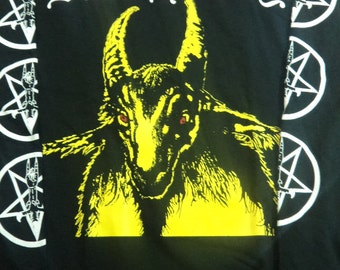 New Bathory - yellow goath - longsleeve shirt -  XL  - Venom,Hellhammer,Slayer,Sodom,Kreator