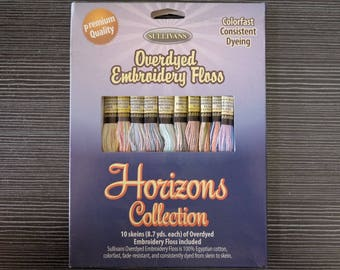 Variegated Cotton Thread 8.7Yards per skein  Embroidery Floss Cross stitch 6 strands, 10PCS/Pack  Low Shrinkage,Abrasion-Resistant