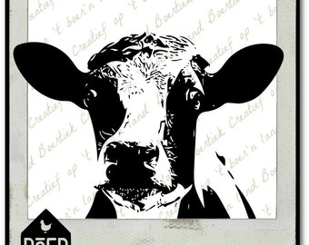 Cow, SVG/Studio/PDF/JPG file, cutting file