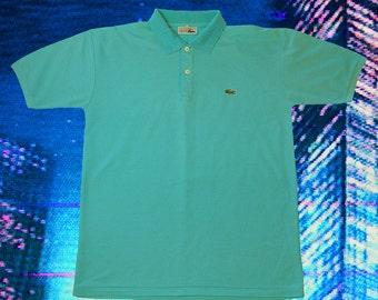 Vintage Lacoste Blue Polo Shirt 80's M