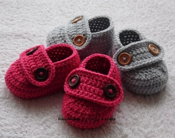 Baby twins shoes, crochet baby booties for twins, handmade baby slippers, baby loafers crochet, newborn shower gift, toddler booties