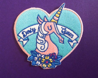 Derby Queen Iron-On Patch