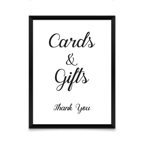Wedding Gift Table Sign Template : Wedding SignGift Table PrintableGift Table SignWedding ...