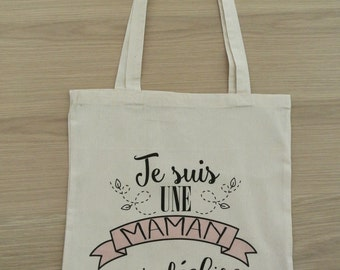 "Tote bag MOM ""I'm a MOM who rocks"""