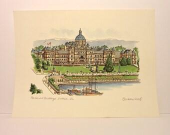 "BARBARA WOOD - Limited Edition Print - ""Parliament Building"""