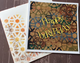 Steampunk Birthday Card | Handmade Card | Birthday Card |