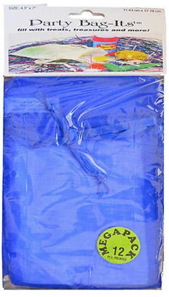 """Sheer Organza Bag-its, 72 pcs 4 1/2"""" x 7"""", Royal Blue   **FREE U.S. SHIPPING**"""
