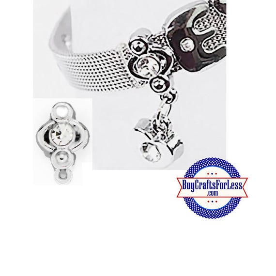 RHINESTONE Spacer for 8mm SLIDE Bracelet, Collars, Key Rings +FREE Shipping & Discounts*
