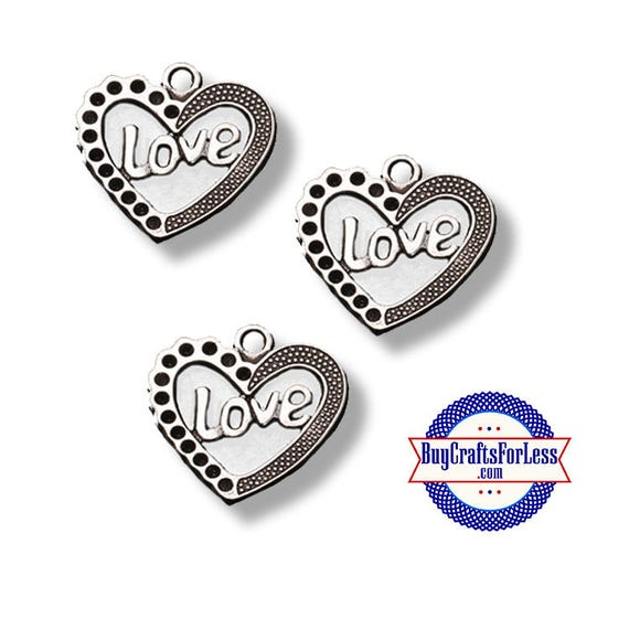 LOVE Charms, 4 pcs  **99cent shipping-FREE with orders 10 dollars+**