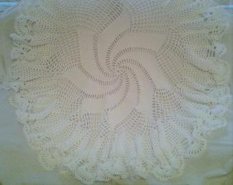 Beautiful Hand Crocheted circular baby shawl
