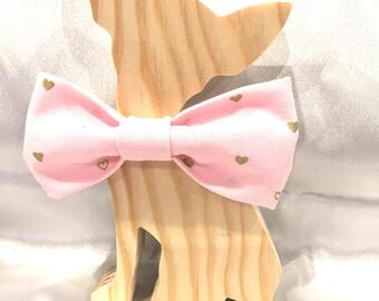 A Touch of Gold Bandana, dog flower brooch or dog Bow Tie - Pet Accessory - Navy or Pink cat bow tie, cat flower accessory