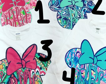 Lilly Pulitzer Inspired Disney Shirt