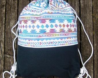 gym bag - bagpack - ethno look