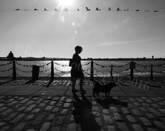 Liverpool Albert Docks Black and White Photographic Print