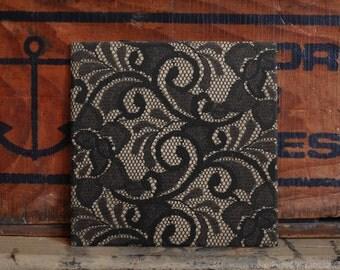 Lace Ceramic Tile Coaster Set Artwork Trivet Hot Plate Pot Stand Plant Tile Coasters Splashback Kitchen Decor Tile Interior
