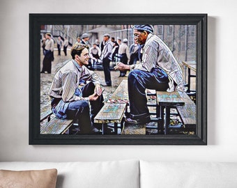 Shawshank Redemption Movie Poster Art Canvas Print Wall Decor Canvas Cinema Poster Print Designer Art Painting Wall Art Decor Morgan Freeman