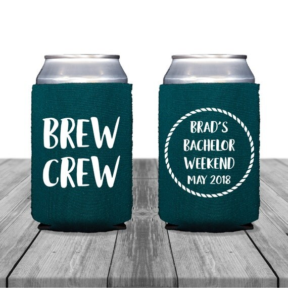 Kool A Brew Can Coolers ~ Neoprene can coolers personalized coolies wedding